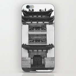 Old Philadelphia Chinatown building - B&W version iPhone Skin
