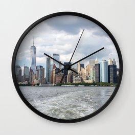 NYC Skyline 2017 Wall Clock