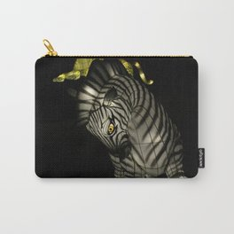 Closeup of Zebra Christmas Decoration in Palm Desert Carry-All Pouch