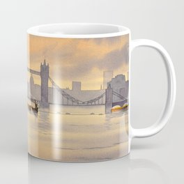 Tower Bridge and St Paul's Cathedral London Coffee Mug