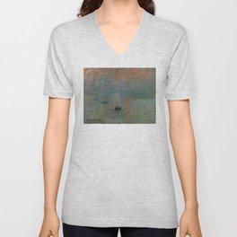 Claude Monet - Impression, Sunrise Unisex V-Neck