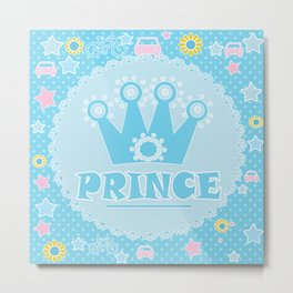 "For the little Prince . From the series ""Gifts for kids"" . Metal Print"