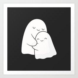 Ghost Hug - Soulmates Art Print