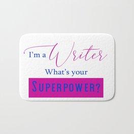 Writer Superpower Bath Mat
