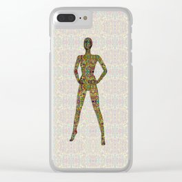 Portrait of A Woman of Color Clear iPhone Case