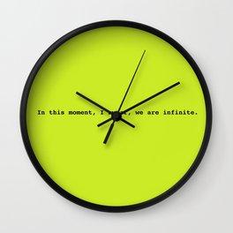 We are infinite Wall Clock