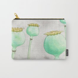 Four Poppy Pods Carry-All Pouch