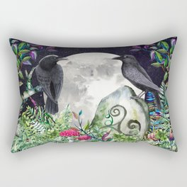Raven Moon Magick Rectangular Pillow