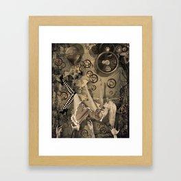 Alice in Steampunk land Framed Art Print