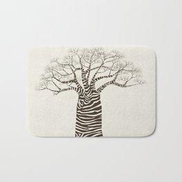 Zebra Tree Bath Mat