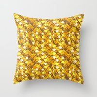 klimt Throw Pillows featuring Klimt by kociara