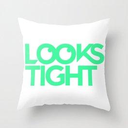Looks Tight Stacked Logo Throw Pillow