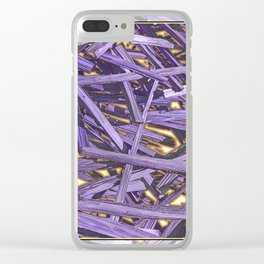 PURPLE KINDLING AND GLOWING EMBERS ABSTRACT Clear iPhone Case