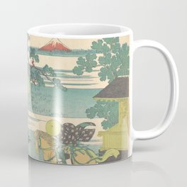 Japanese Print Three Horse Riders Coffee Mug