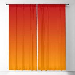 Red Orange Gradient Blackout Curtain