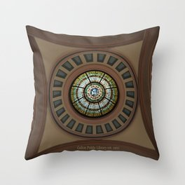 Hometown Library Throw Pillow