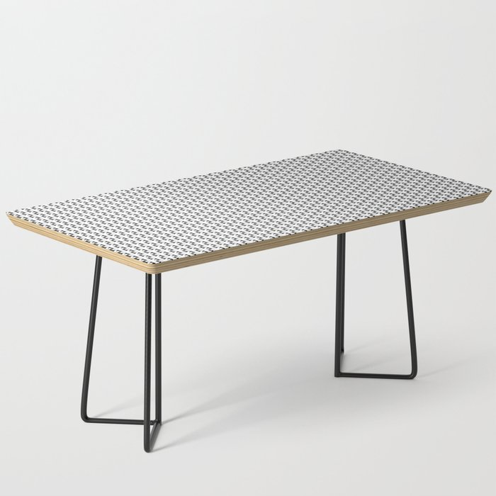 Black and White Basket Weave Shape Pattern 2 - Graphic Design Coffee Table