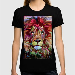 Colorful Lion Painting T-shirt