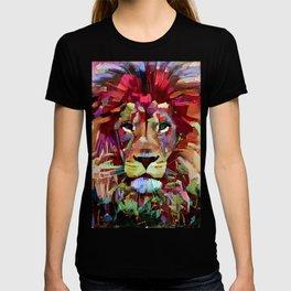 Colorful Lion Painting T-shirt