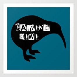 KIWI Carping Kiwi Art Print