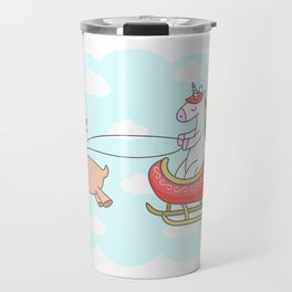 Unicorn Sleigh Travel Mug