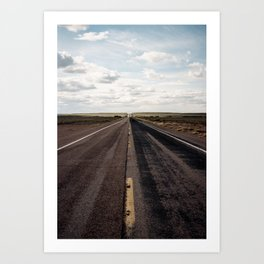The Road Through the Petrified Forest (35mm Film) Art Print