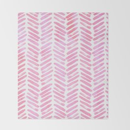 Handpainted Chevron pattern - pink and pink ;) Throw Blanket