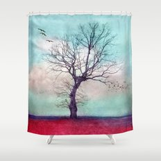 ATMOSPHERIC TREE | Longing for spring Shower Curtain