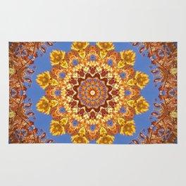 Orange chakra Print, home Meditation art Positive Energy Intention Symbol, Mandala yoga studio leaf Rug