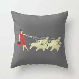 Afghan Lady Throw Pillow