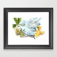 the only way out is up Framed Art Print