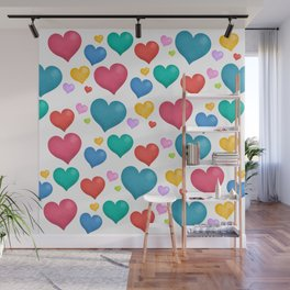 Hearts Wall Mural
