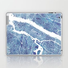New York City Map United states watercolor Laptop & iPad Skin