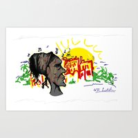 "brazil Art Prints featuring Brazil  by Robert ""Bakurio"" Leichthammer"