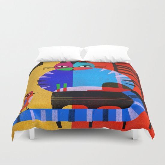 BLACK CHAIR Duvet Cover