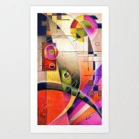 kandinsky Art Prints featuring Kandinsky Cadence by Alma Lee