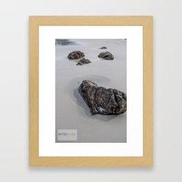 Heart Rock Framed Art Print