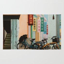 Bicycle Shadows Rug
