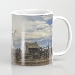 Steer Skull and Western Fenced Corral Coffee Mug