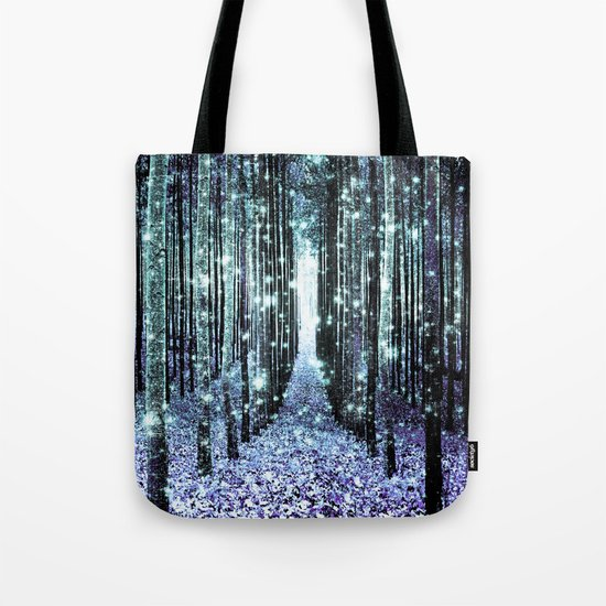 Magical Forest Lavender Aqua/Teal Tote Bag