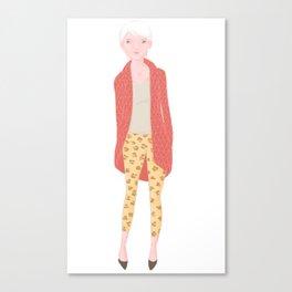 Leopard tights Canvas Print