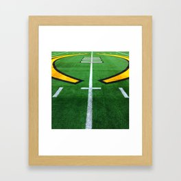 Rugby playing field Framed Art Print