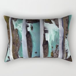 Goðafoss (Waterfall of the Gods) in Northern Iceland Rectangular Pillow