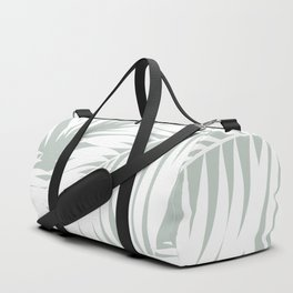 Palm Tree Fronds White on Rainwashed Maui Hawaii Tropical Graphic Design Duffle Bag
