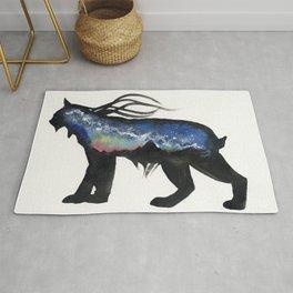 Aurora Milky Way Lynx. Rug