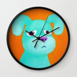 Sad pup Wall Clock