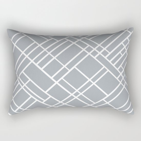 Map Outline Grey 45 Rectangular Pillow