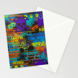 Uplifting Collage (fluo) Stationery Cards