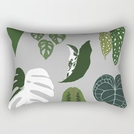 Leaves composition 2 gray background Rectangular Pillow