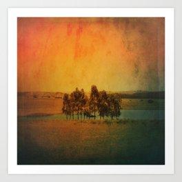 Solitude Colors Art Print